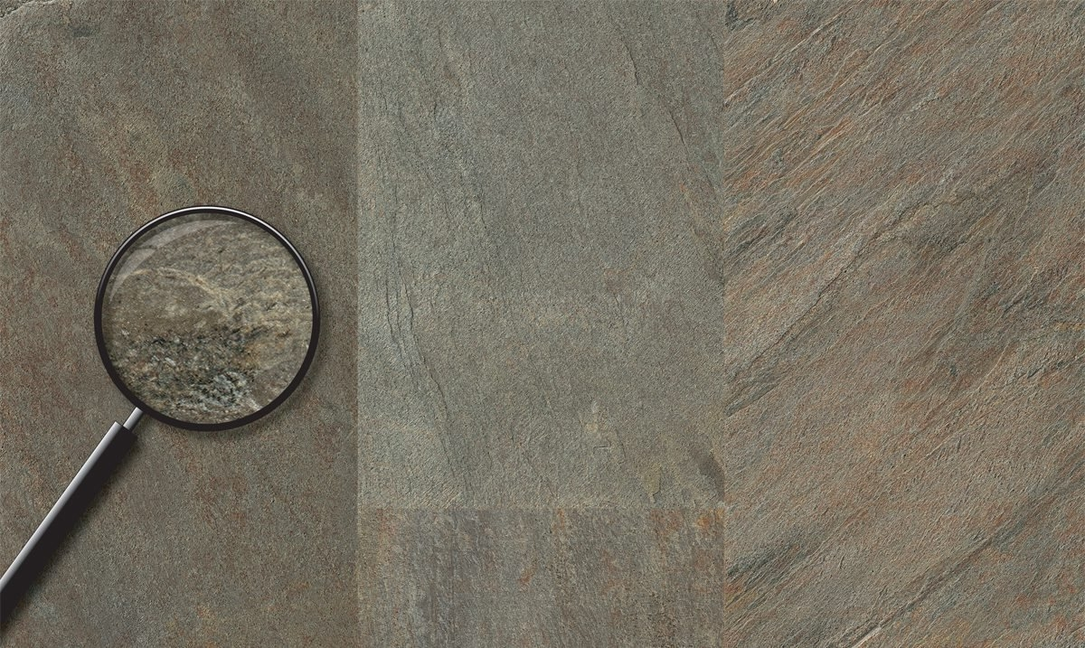 Виниловый пол Progress Natural Stone 604 Gleam Slate Grey-green